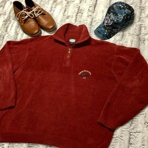 Rust Red Tommy Bahama Quarter Zip Pullover Sweater